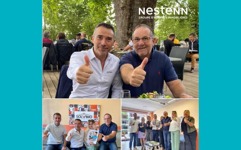 Les couleurs Nestenn pour l'agence Solvimo de Livron-sur-Drôme !