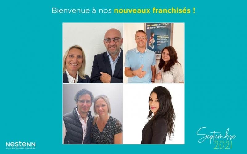 Septembre 2021 : nouveaux franchisés, nouvelles agences Nestenn !