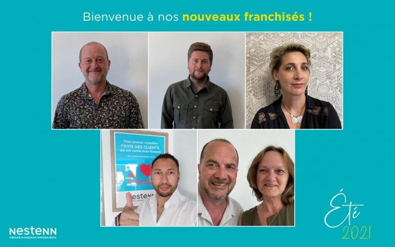 Été 2021 : nouveaux franchisés, nouvelles agences Nestenn !
