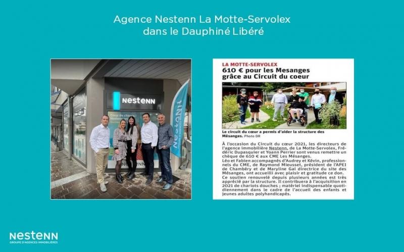 L'agence Nestenn La Motte-Servolex (73) : don au CME* Les Mésanges