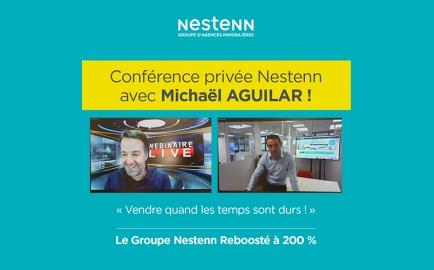 Vif succès pour la conférence privée Nestenn avec Michaël Aguilar : « Vendre quand les temps sont durs » !
