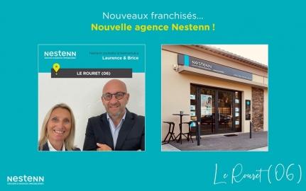 Laurence et Brice LEVAIQUE ouvrent leur agence Nestenn à : Le Rouret (06)