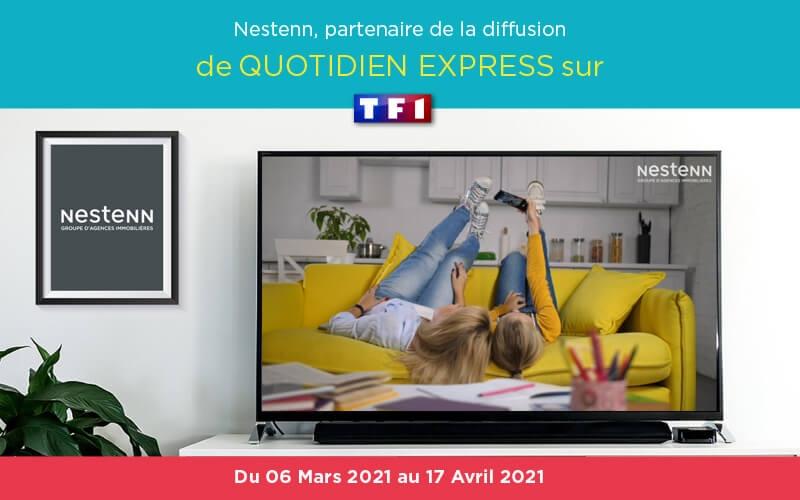 Nestenn partenaire du Quotidien express présenté par Yann Barthès