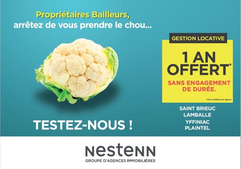 Nestenn Côtes d'Armor - Gestion Locative, 1 an de gratuité