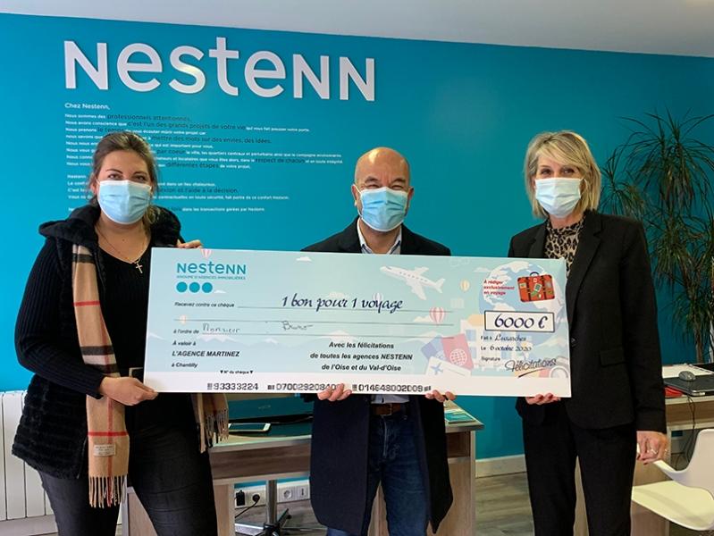L'agence Nestenn de Fosses dans le Val d'Oise fait gagner un voyage à l'un de ses clients, d'une valeur de 6000€ !