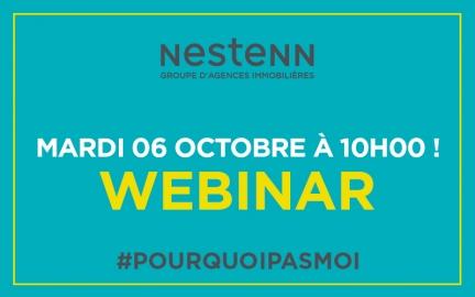 Nestenn - Reconversion professionnelle ou Agents Immobiliers : Rendez-vous pour un WEBINAIR, le 6 octobre 2020 à 10h00